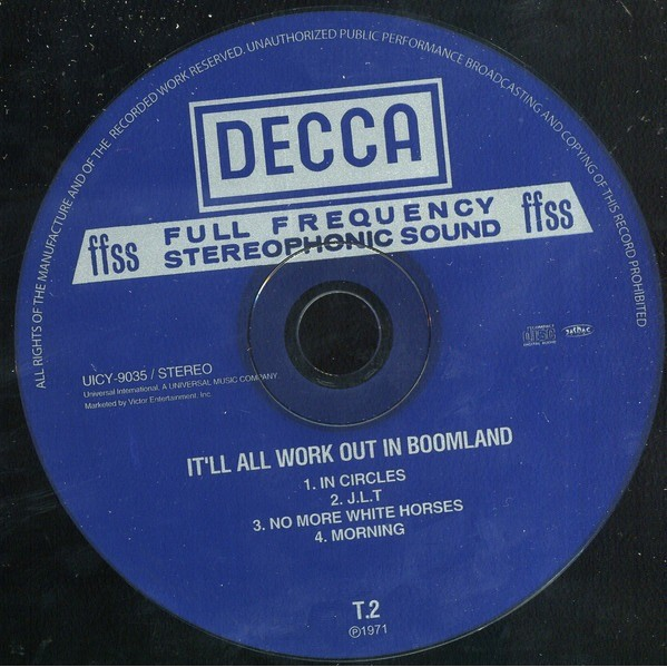 T2 It'll All Work Out In Boomland. Mini LP Papersleeve