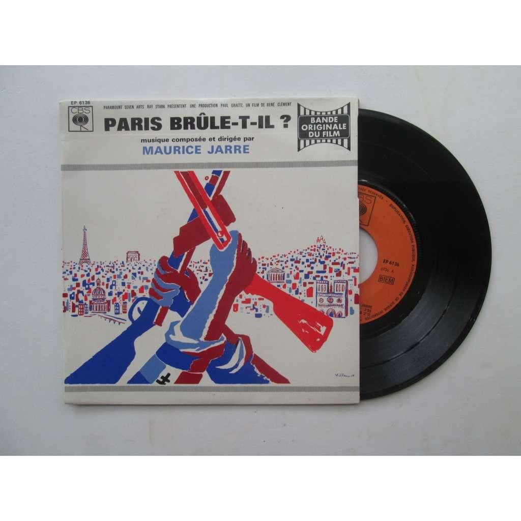 Maurice JARRE Paris brûle -t-il