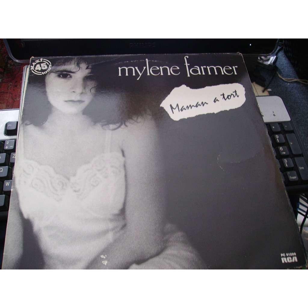 Mylene Farmer Maman A Tort pochette noir et blanc