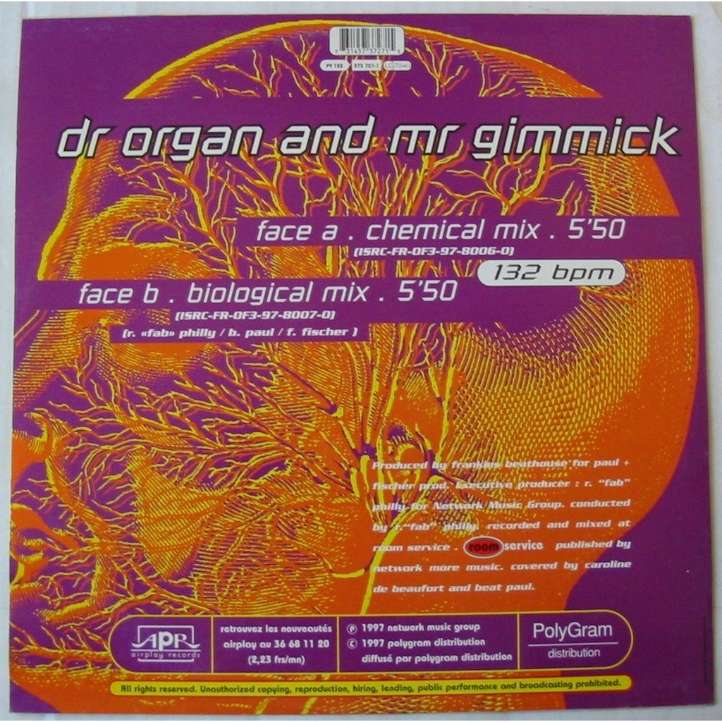 BELL - BAR DR ORGAN AND MR GIMMICK
