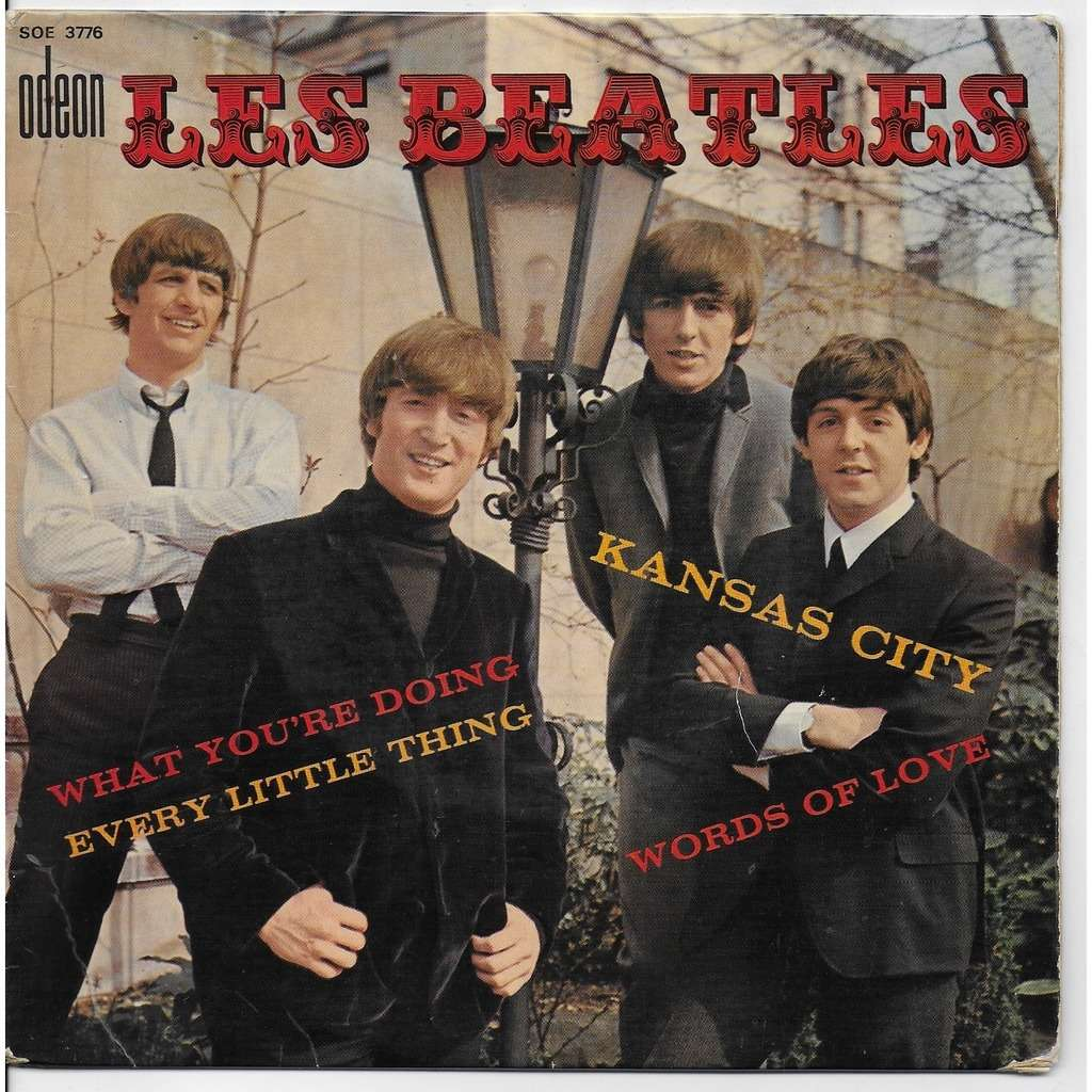 the beatles KANSAS CITY WORDS OF LVE WHAT YOU'RE DOING EVERY LITTLE THING
