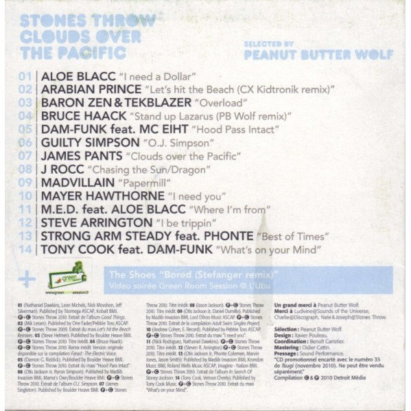 Selected By Peanut Butter Wolf Tsugi 35 - Various - Stones Throw Clouds Over The Pacific (Selected By Peanut Butter Wolf)