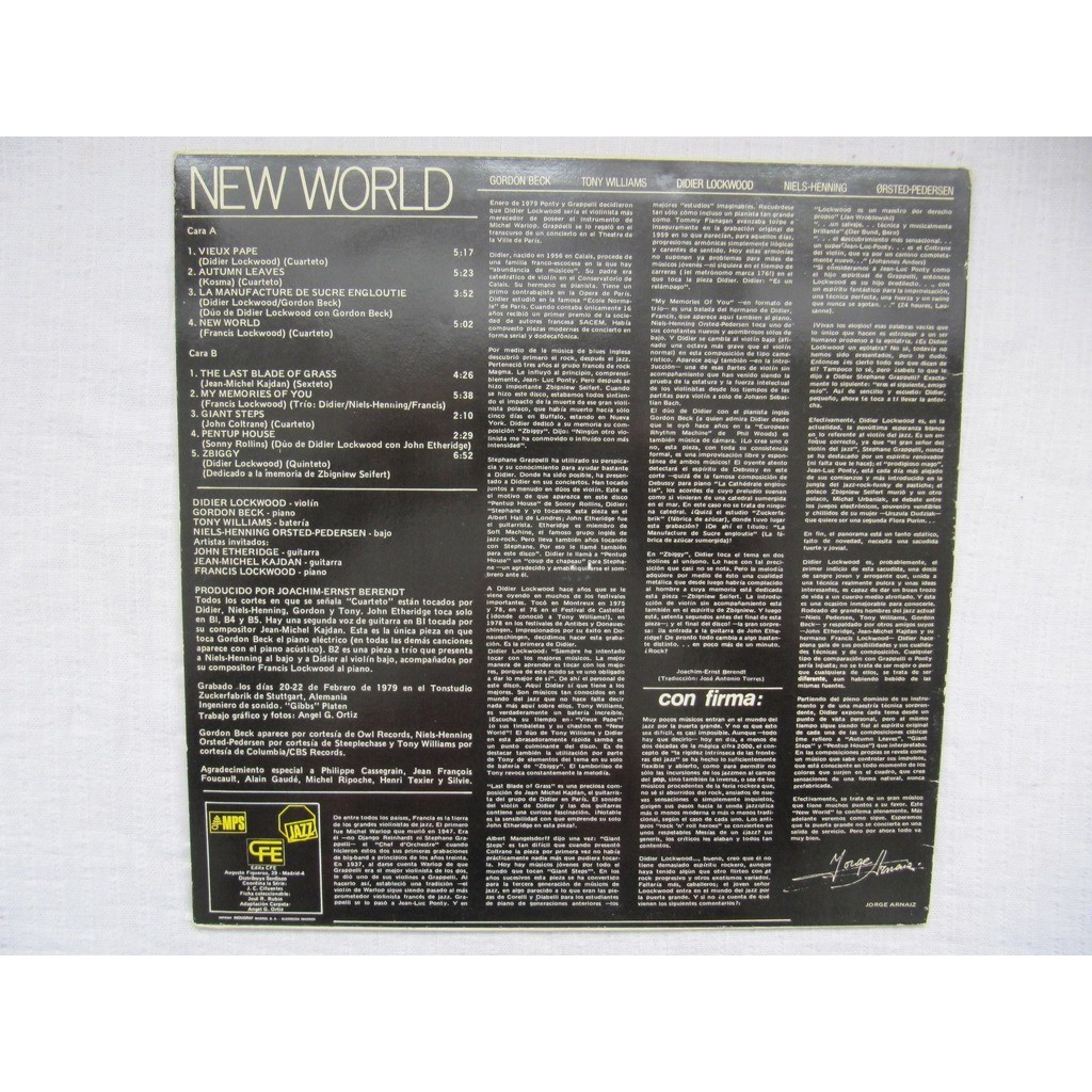 Didier Lockwood New World