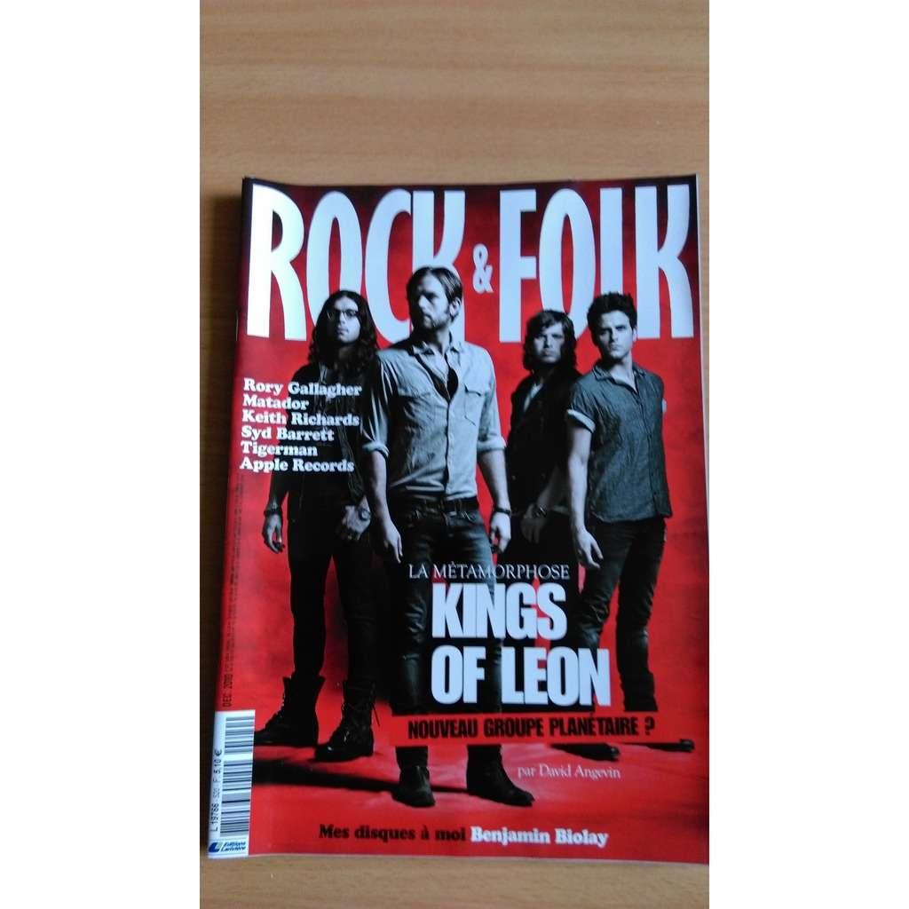 kings of leon ROCK AND FOLK N° 520 déc 2010 KINGS OF LEON RORY GALLAGHER SYD BARRETT TIGERMAN