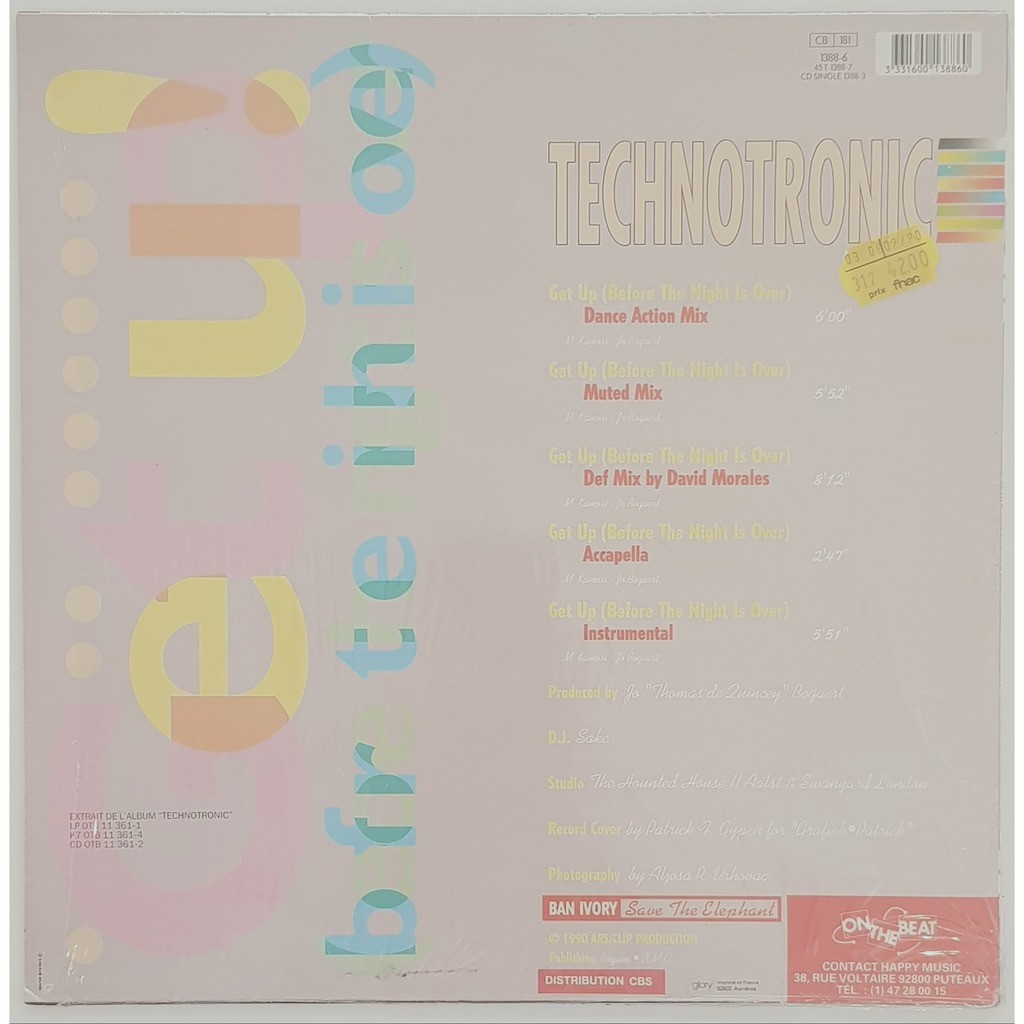 Technotronic Get Up! (Before The Night Is Over)