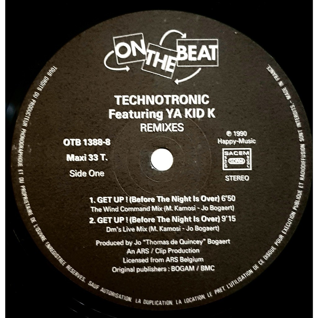 Technotronic Get Up (Before The Night Is Over) (Remixes)