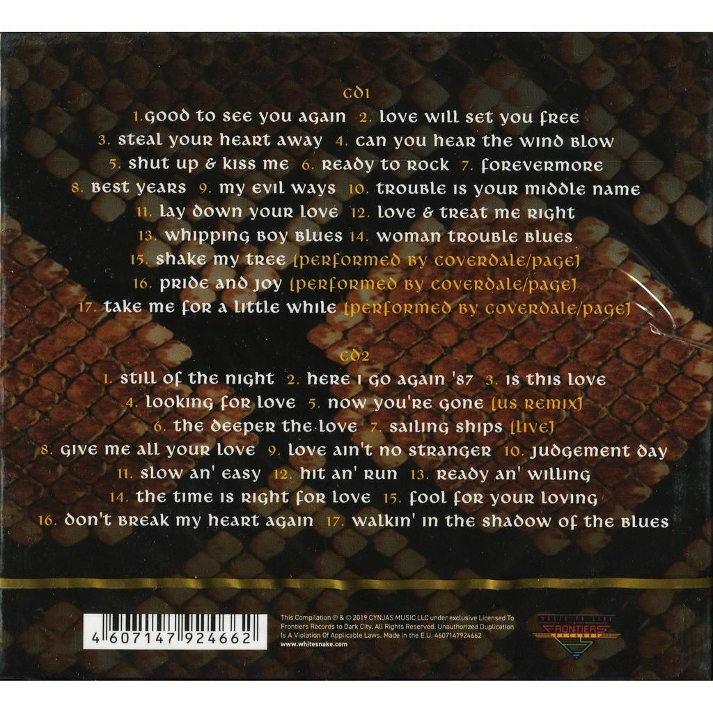 Whitesnake Greatest Hits / Best Of (2019 NEW) 2CD Digipak New/Factory-Sealed!