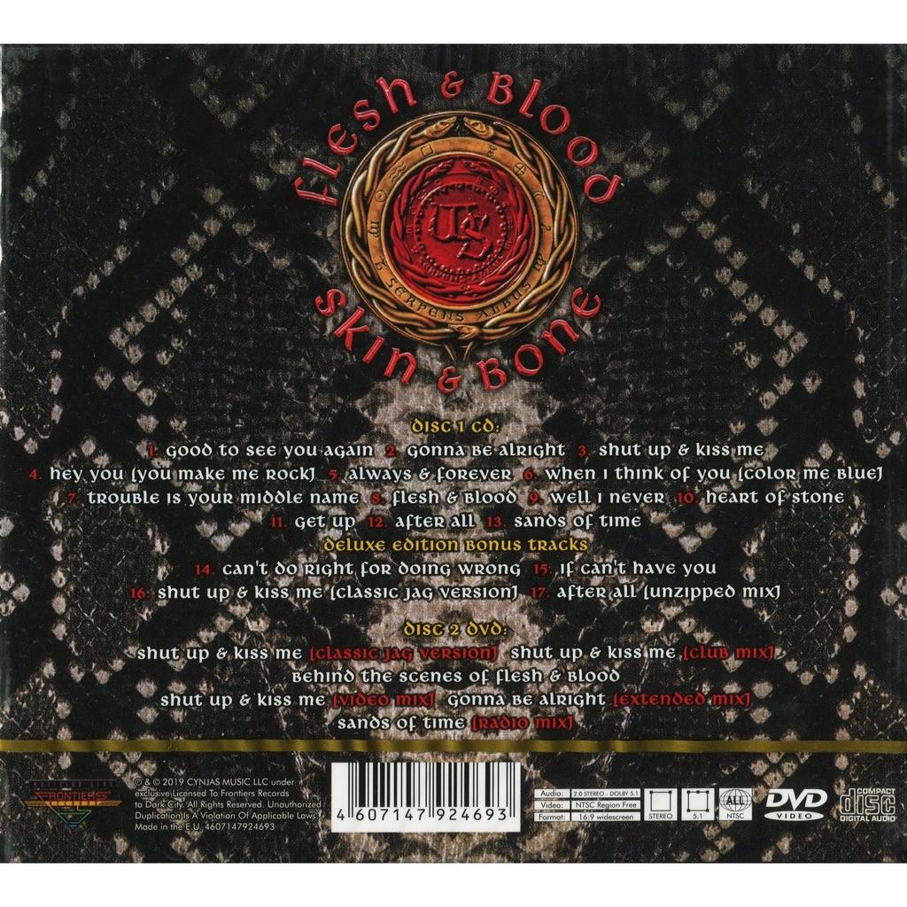 Whitesnake Flesh & Blood (2019 NEW!!!) CD+DVD Digipak - New and Factory Sealed