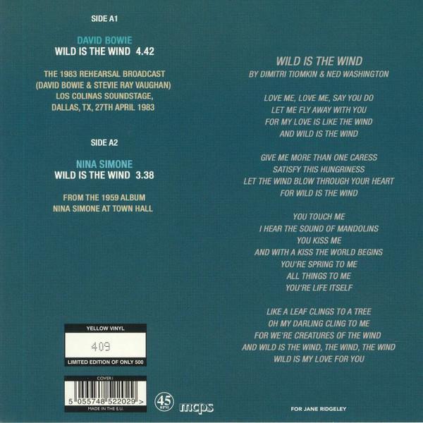 Bowie / Simone Wild Is The Wind (7') Ltd Edit 500 Copies Yellow Vinyl -U.K