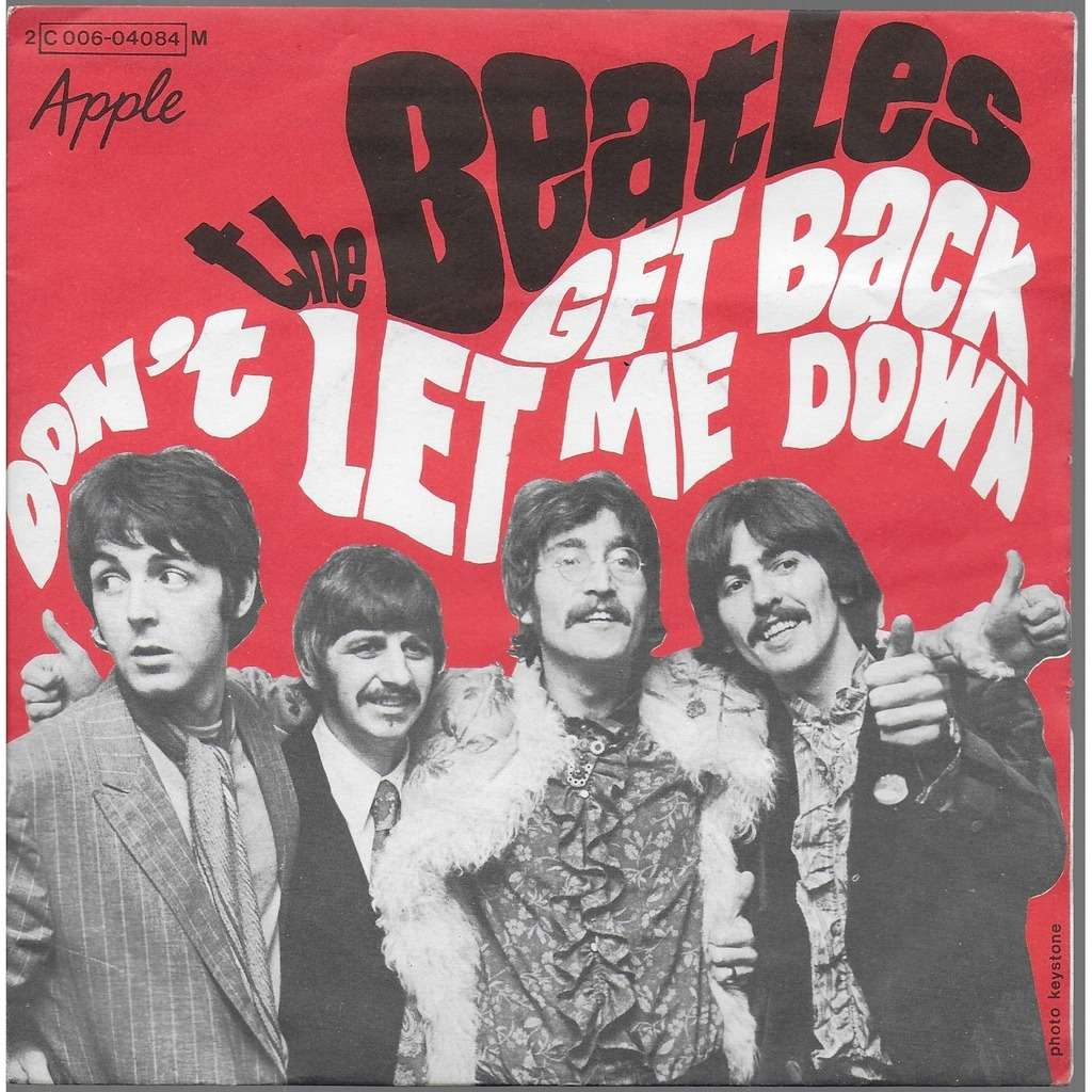 THE BEATLES GET BACK/DONT LET ME DOWN