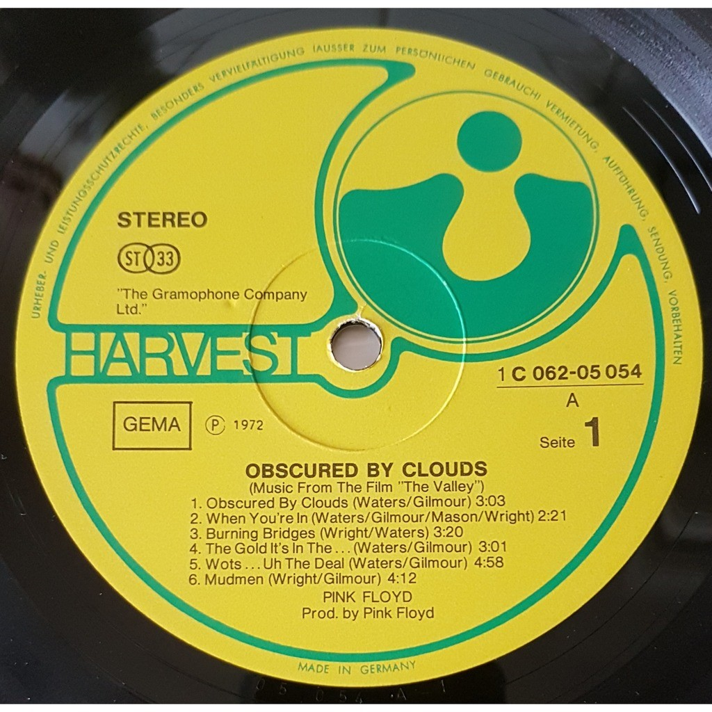 PINK FLOYD la vallee - obscured by clouds