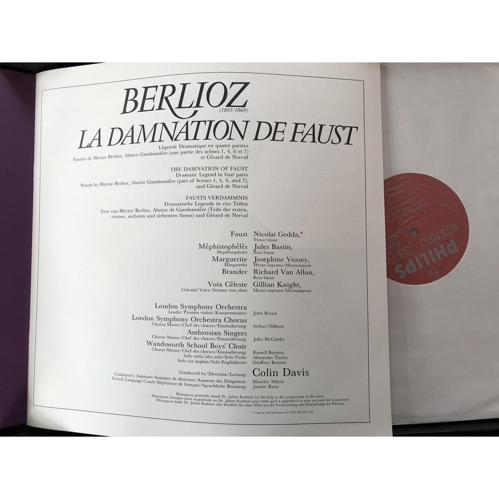 BERLIOZ / COLIN DAVIS LA DAMNATION DE FAUST