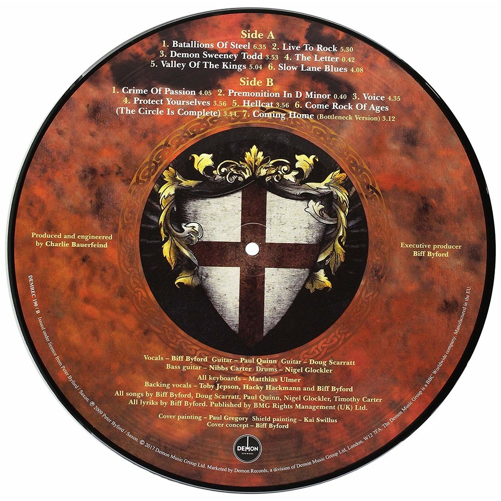 Saxon Into The Labyrinth (lp) Ltd Edit Exclusive Record Store Day Picture Disc -U.K