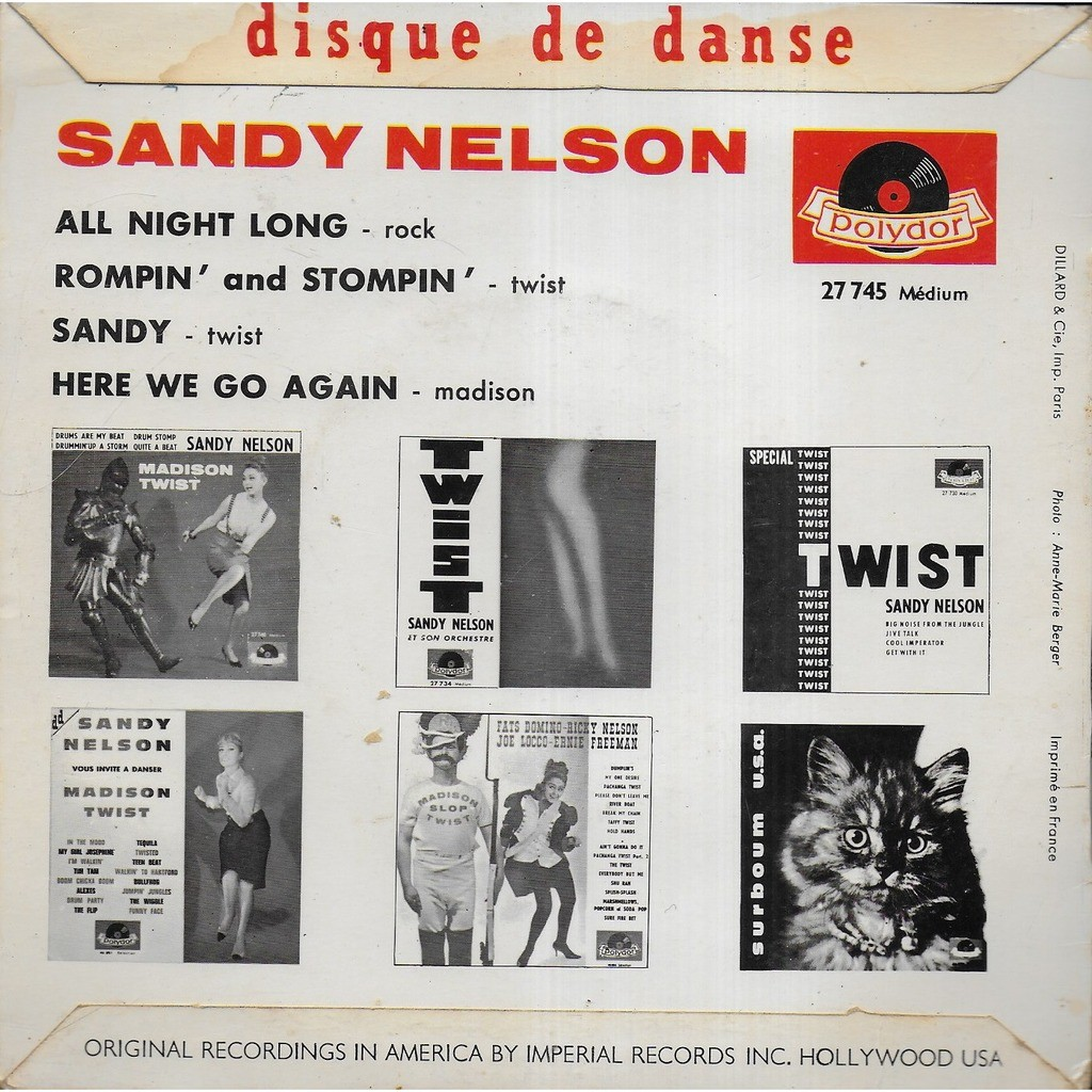 Sandy NELSON All night song
