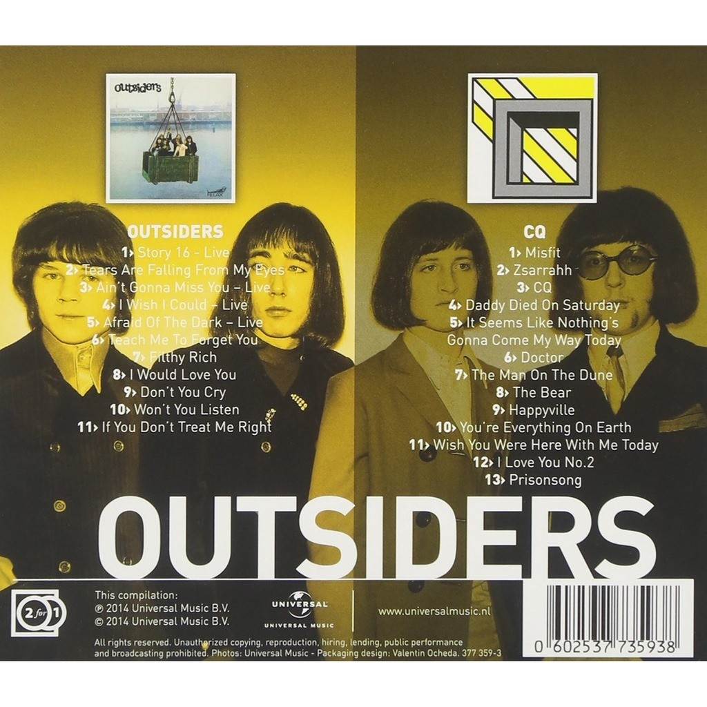 Outsiders 2 originals albums: The Outsiders + CQ