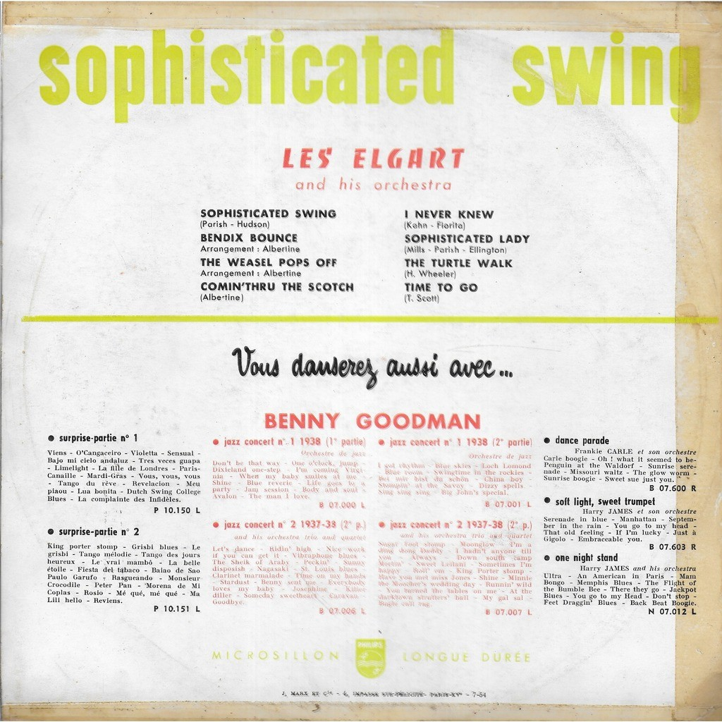 Lès ELGART & his Orchestra Sophisticated Swing