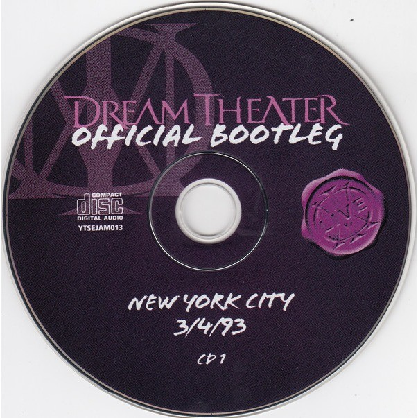 DREAM THEATER NEW YORK CITY 3/4/93 (OFFICIAL BOOTLEG)