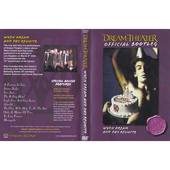 Dream Theater Official Bootleg: When Dream And Day Reunite DVD