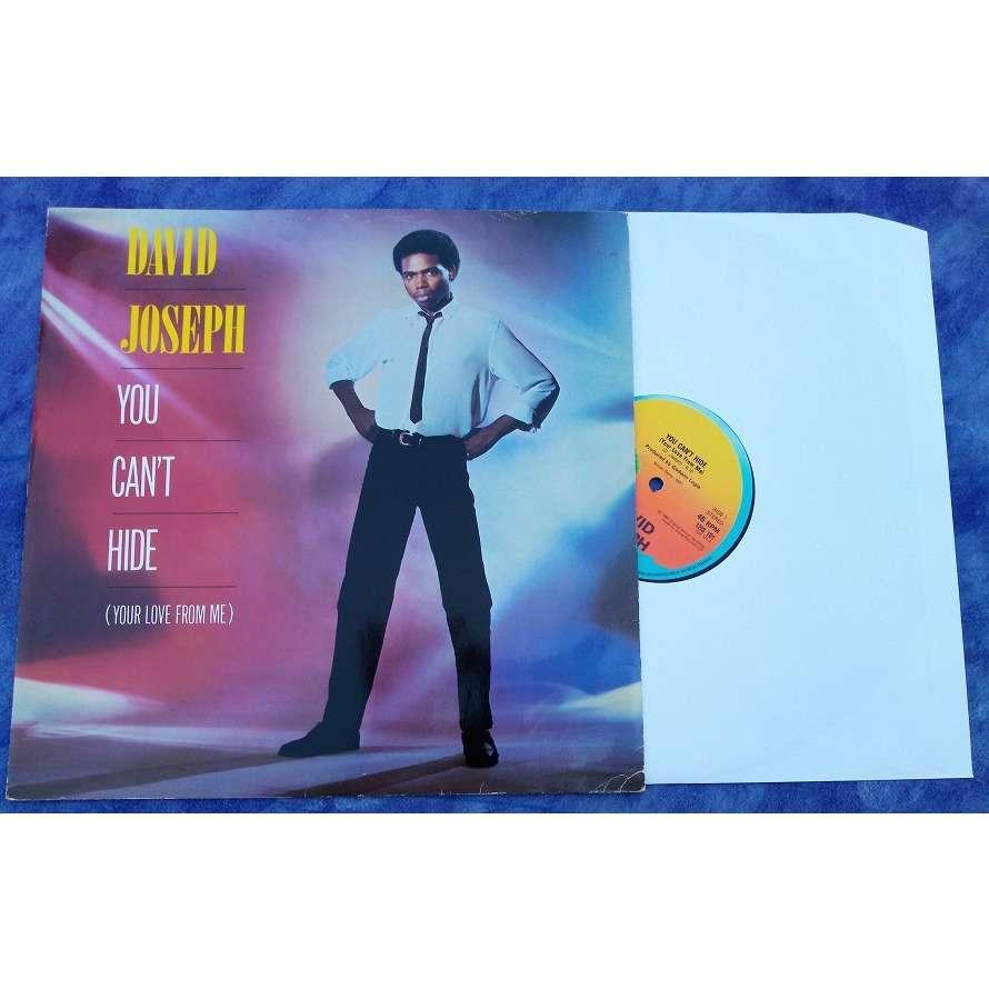 David JOSEPH Original Anglais you can't hide (your love from me) ( 6m10 ) / a capella ( 0m26 )/ instru ( 6m34 )
