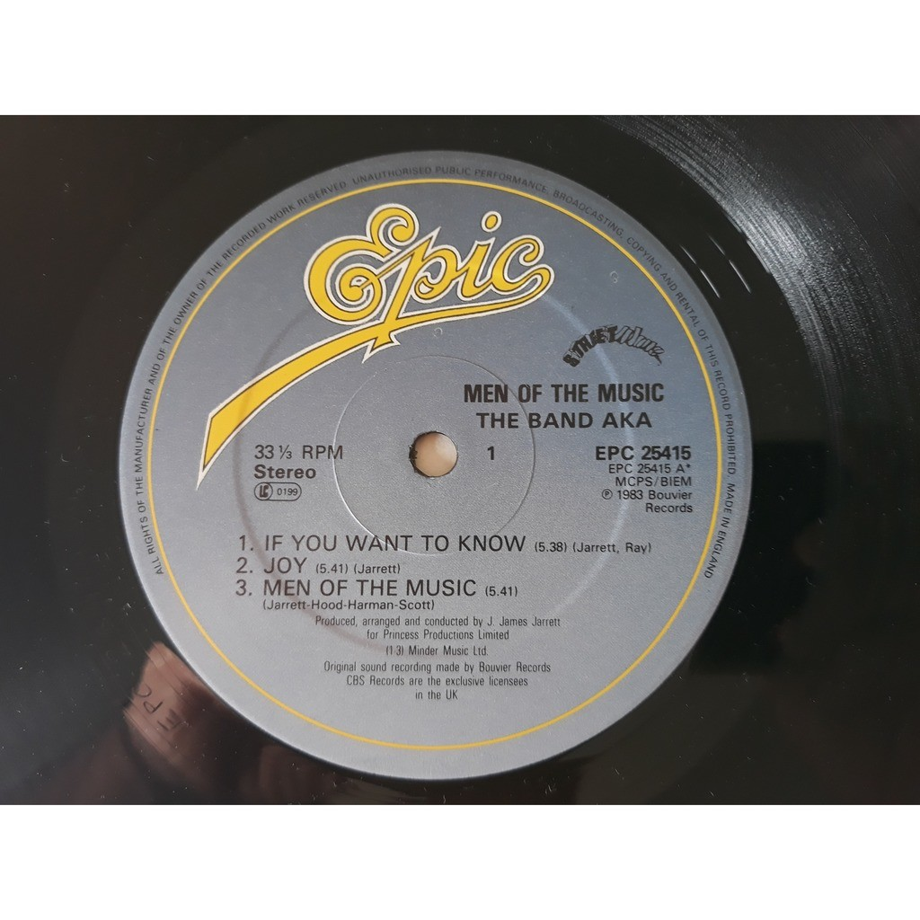 The Band AKA* - Men Of The Music (LP, Album) 1983 The Band AKA* - Men Of The Music (LP, Album) 1983