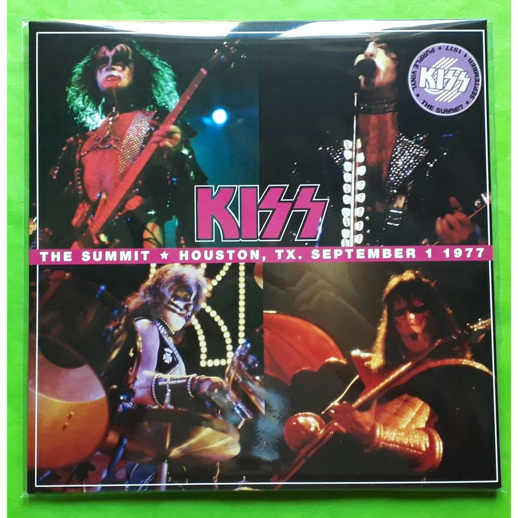 KISS THE SUMMIT-HOUSTON,TX.SEPTEMBER 1-1977 -(Limited edition)(2LP)(Purple vinyl)(2019)(Holland)