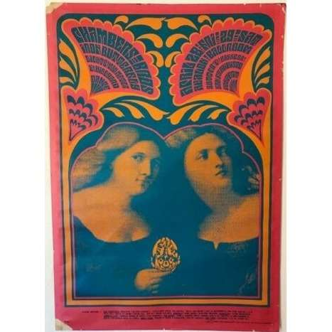 Chambers Brothers / Iron Butterfly / Family Dog Avalon Ballroom S.Francisco 27/28.04.1967 (USA 1967 'Family Dog Production' original Concert poster)