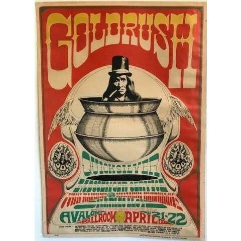 Gold Rush / Quicksilver Messenger Service Avalon Ballroom S.Francisco 21/22.04.1967 (USA 1967 'Family Dog Production' original Concert poster)