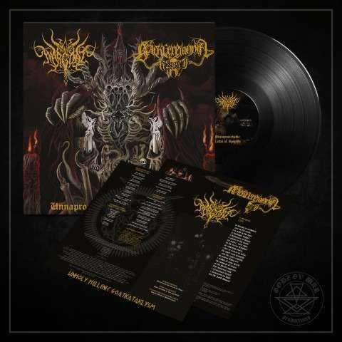 WARGOAT / BLACK CEREMONIAL KULT Unapproachable Laws of the Abyss. Black Vinyl