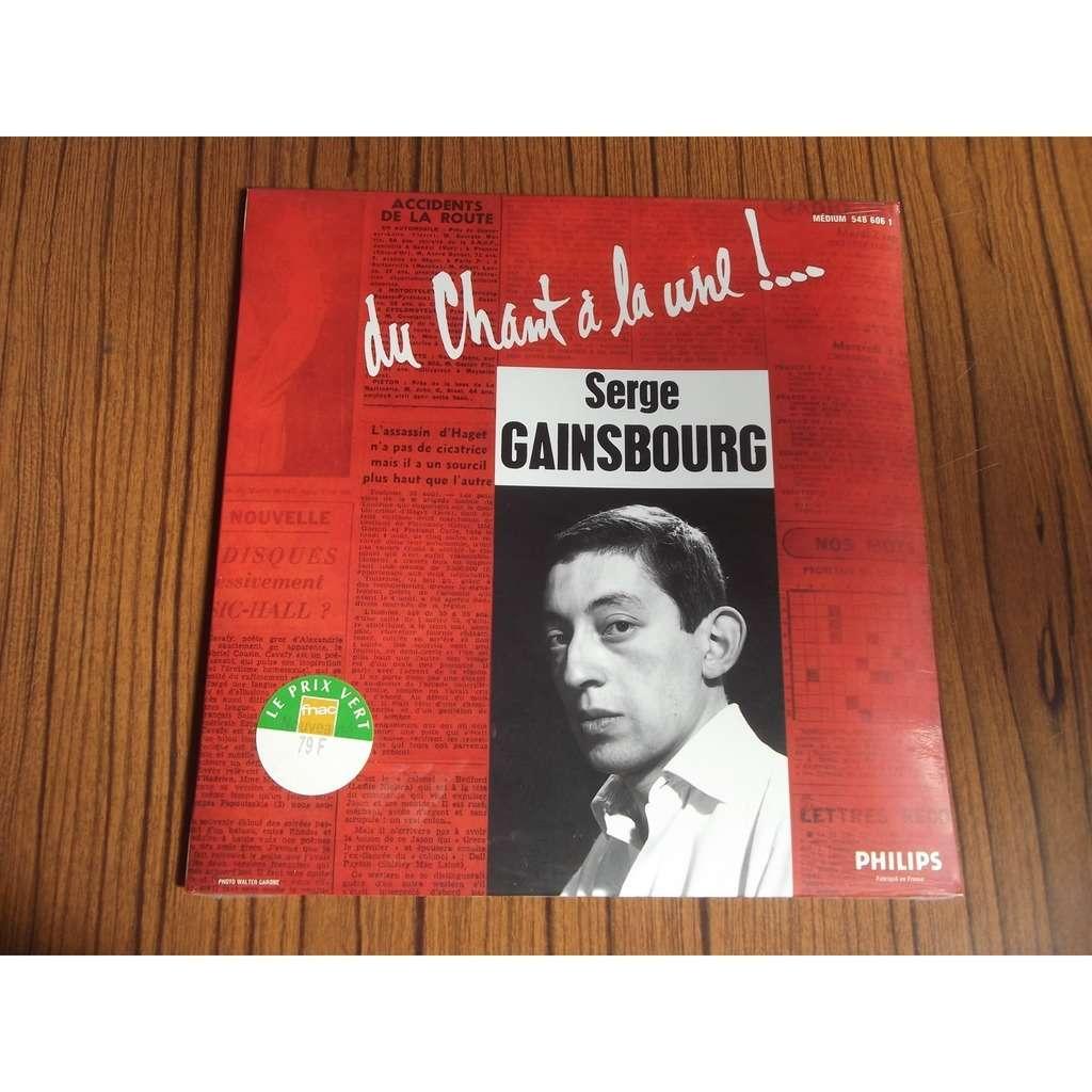 Serge Gainsbourg Du chant à la une