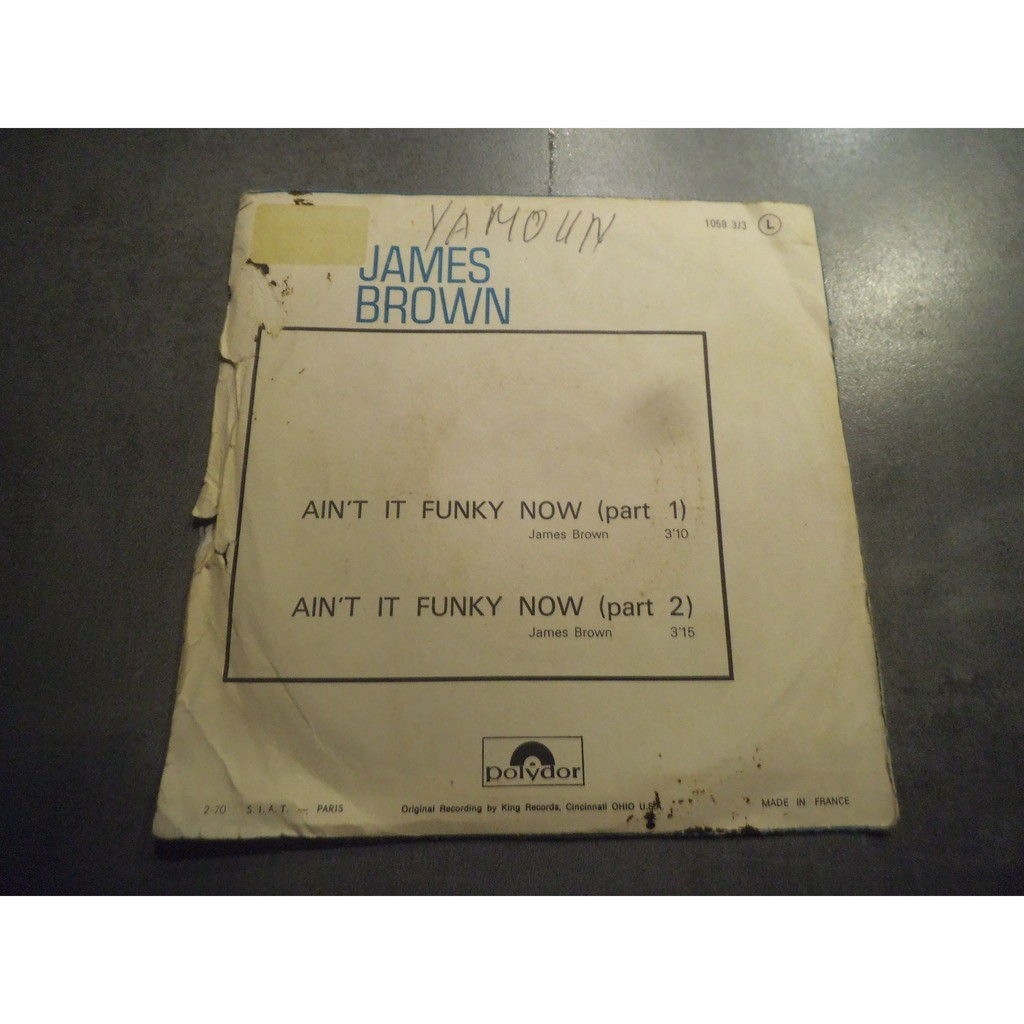 james brown AIN'T IT FUNKY NOW (part 1 ) / AIN'T IT FUNKY NOW (part 2 )