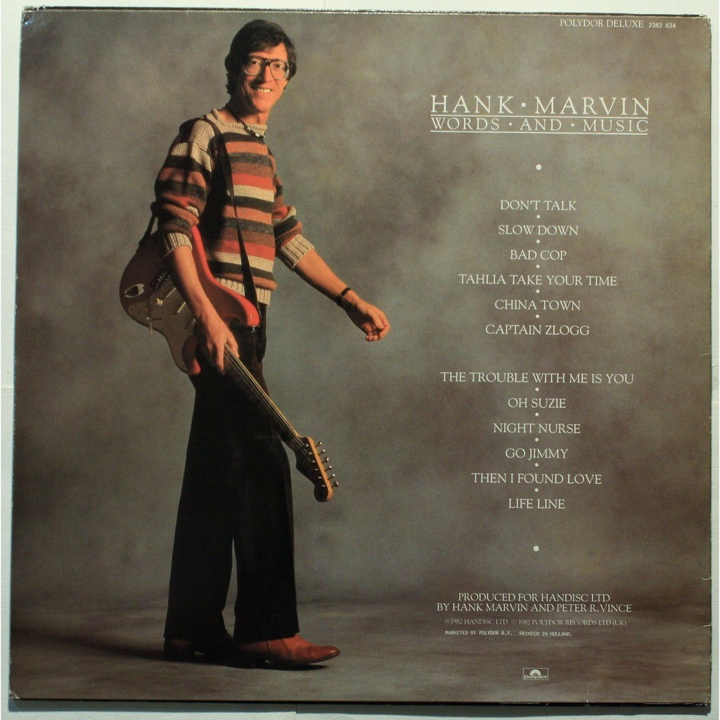 Hank Marvin Words and music