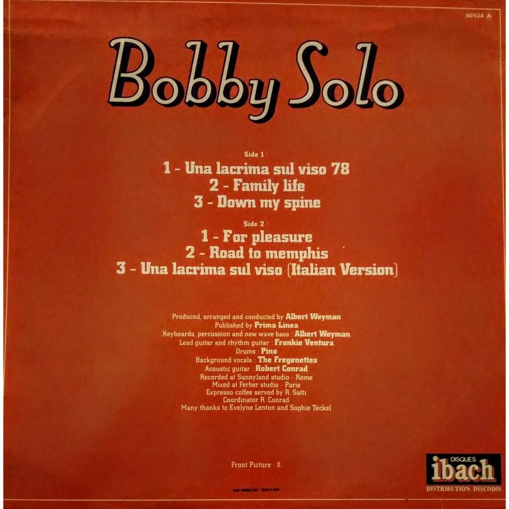 BOBBY SOLO una lacrima sul viso 78