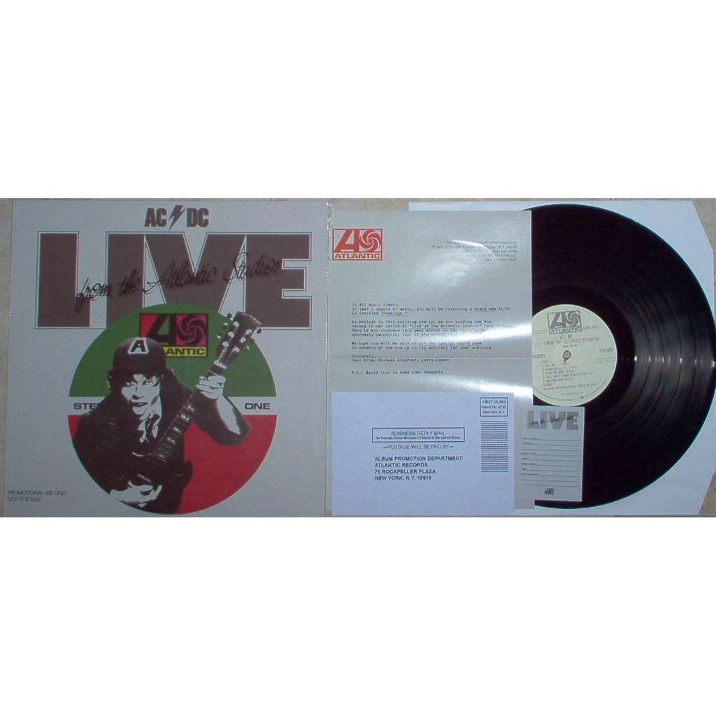 ac/dc Live from The Atlantic Studios (USA 1978 Ltd re 8-trk w/l LP promo ps + letter & bag & insert!!)