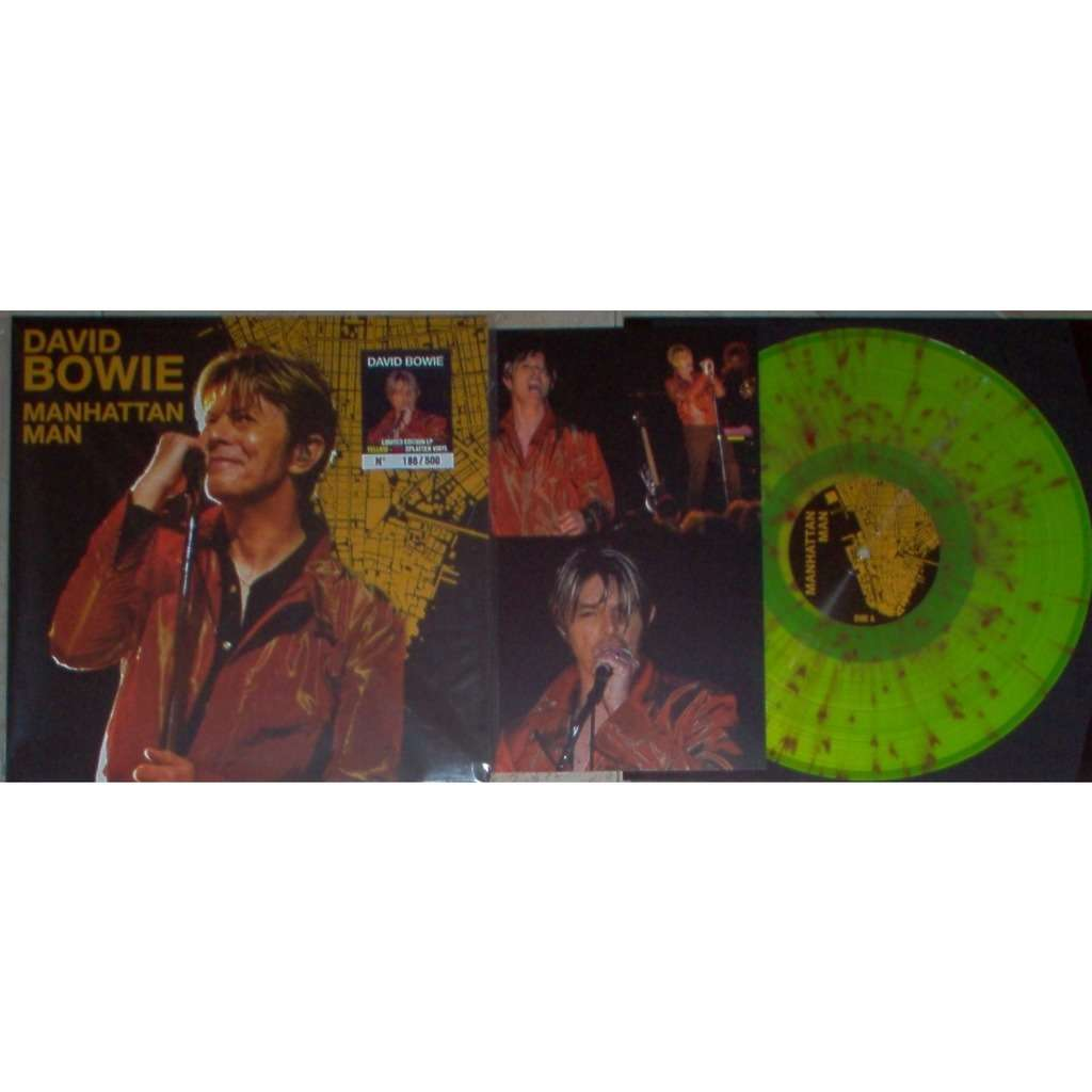 David Bowie Manhattan Man (New York 10.05.2002 etc.) (Ltd 500 copies 10-trk live LP splatter wax)