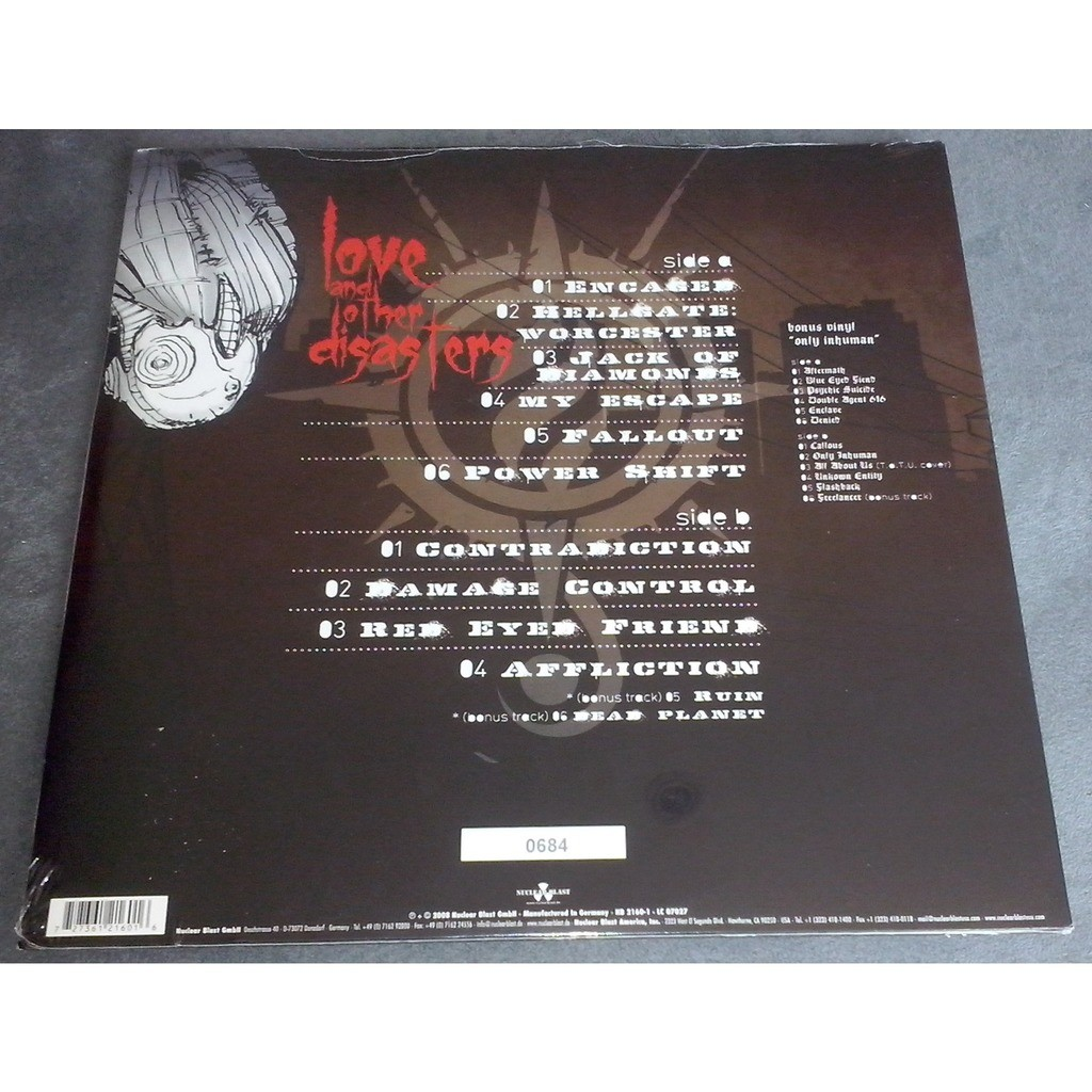 Sonic Syndicate Love And Other Disasters (2xlp) Ltd Edit Gatefold Sleeve -Ger