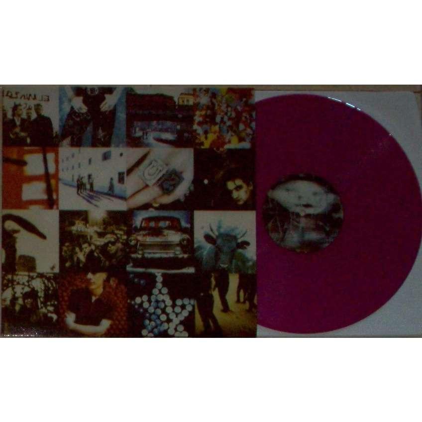 U2 ACHTUNG BABY (EURO LTD RE 12-TRK LP PURPLE VINYL FULL PS)