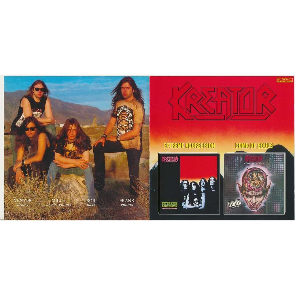 Kreator extreme aggression 1989 + coma of souls 1990 (2on1)