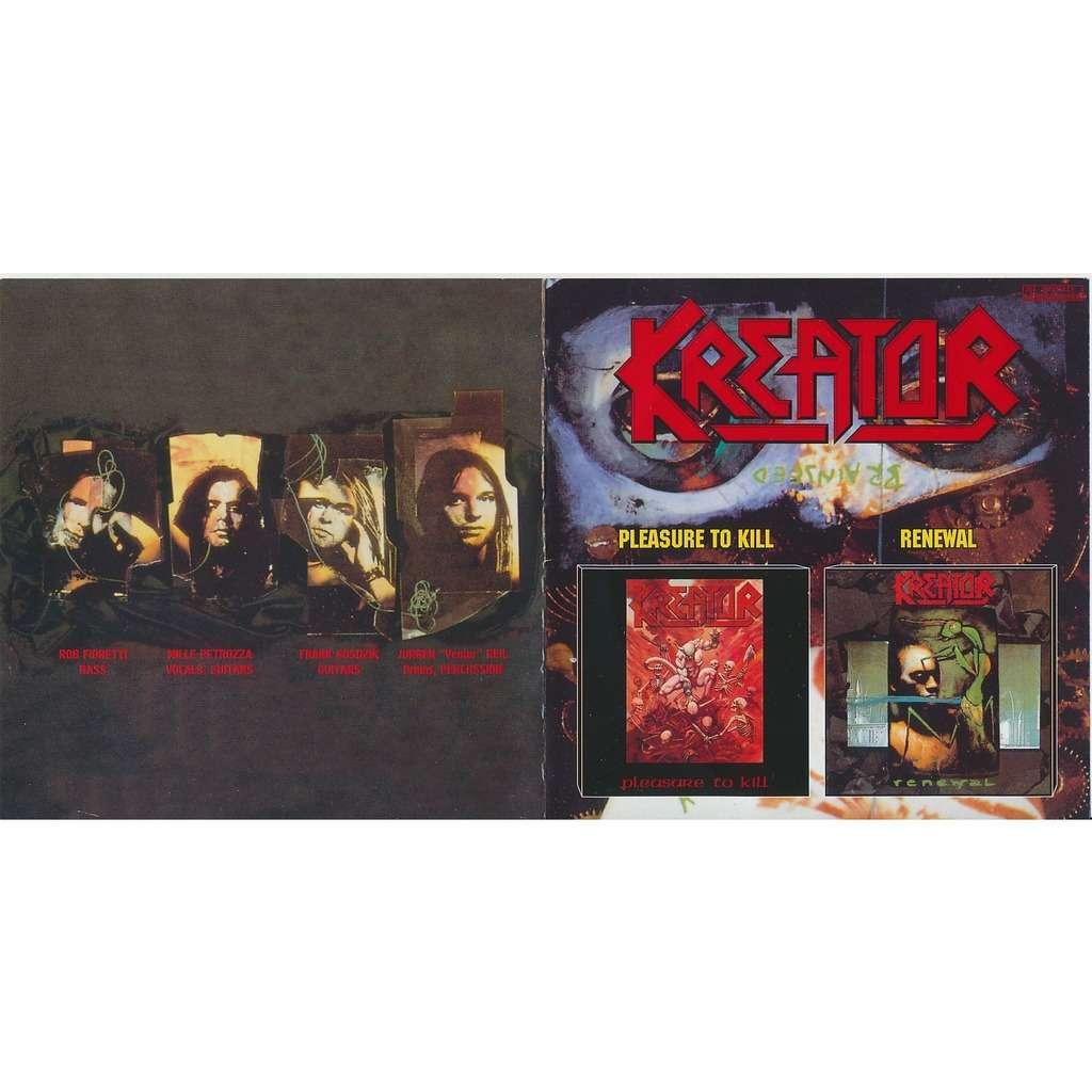 Kreator pleasure to kill 1986 + renewal 1992 (2on1)