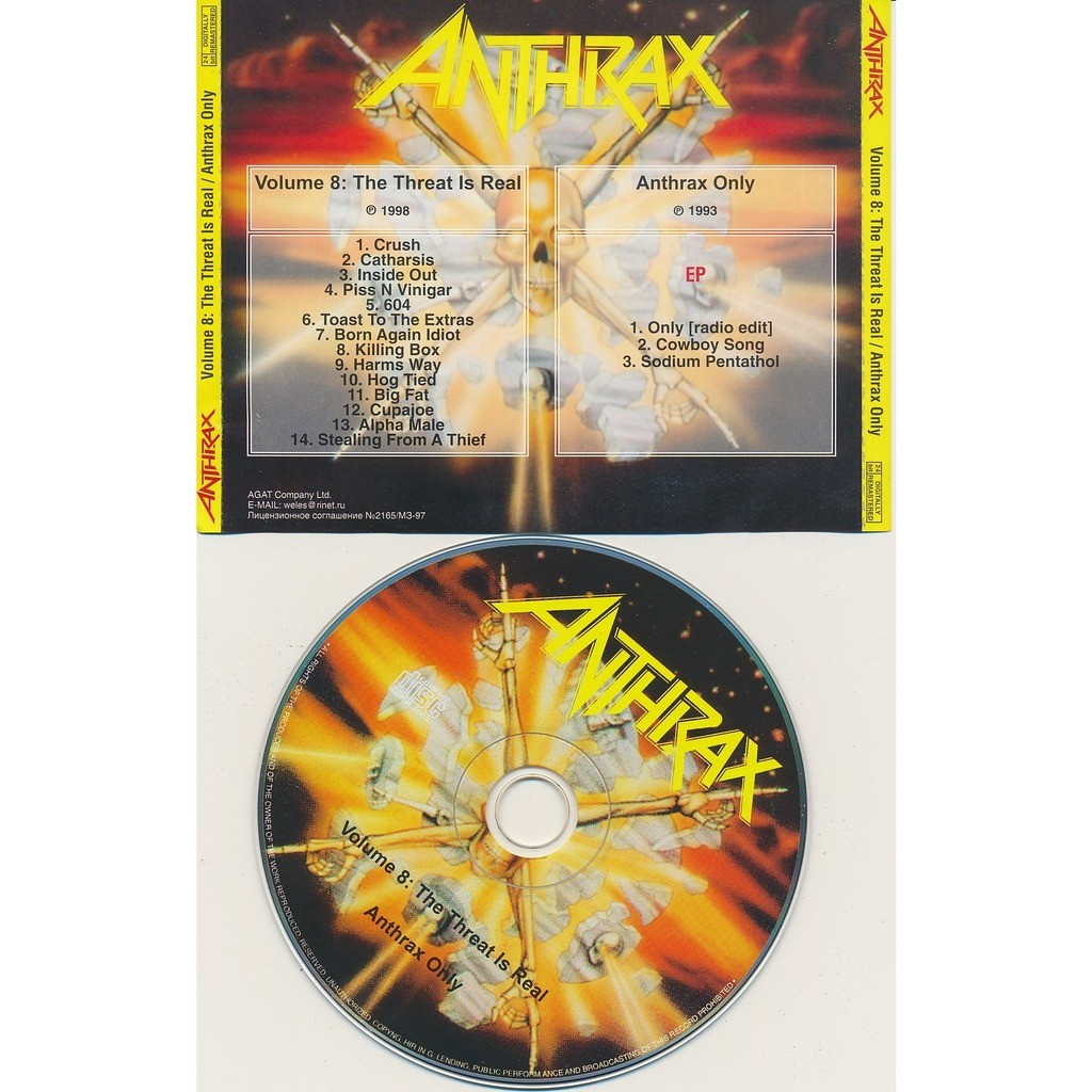 Anthrax volume 8 1998 + anthrax only 1993 (2on1)