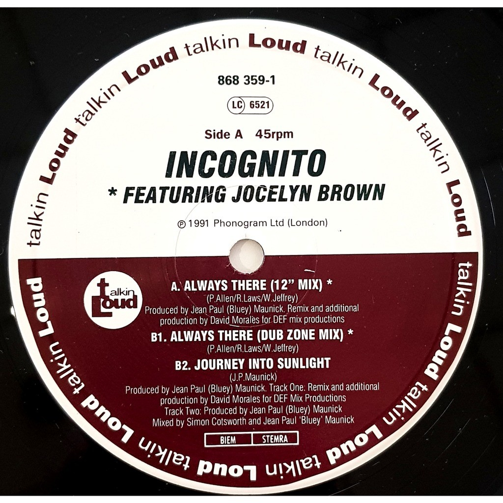 Incognito Featuring Jocelyn Brown Always There