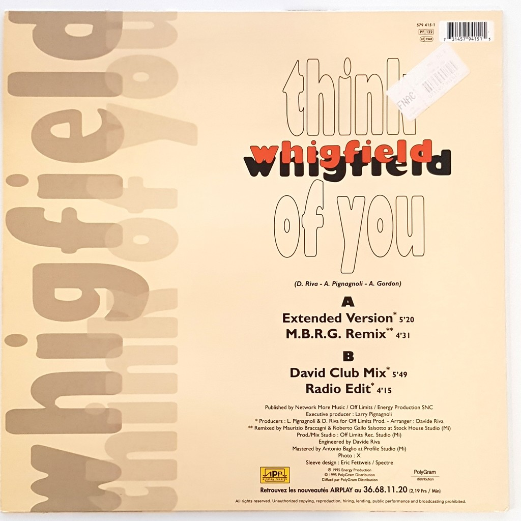 WHIGFIELD think of you