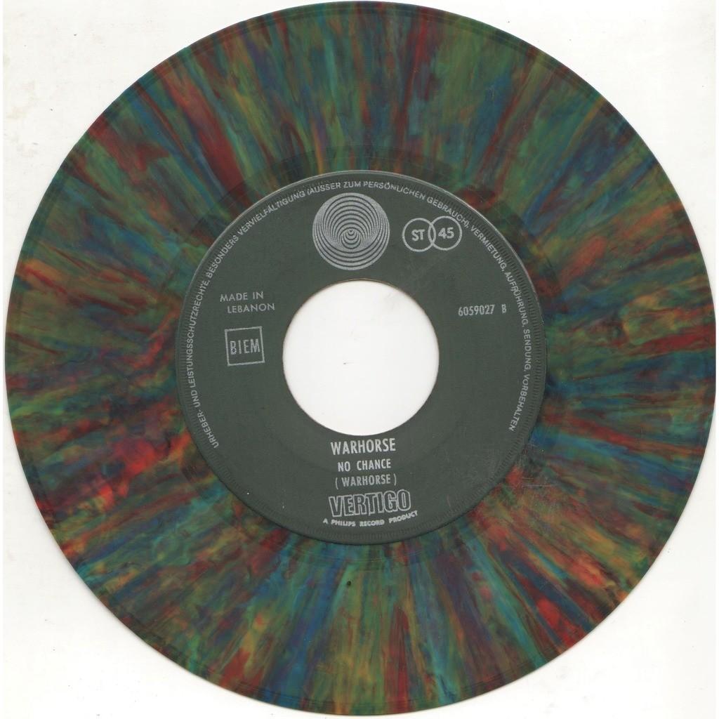 Deep Purple / Warhorse St. Louis (Lebanon 1971 original Ltd 2-trk MULTICOLOR vinyl 7single on Vertigo lbl Co. slv)