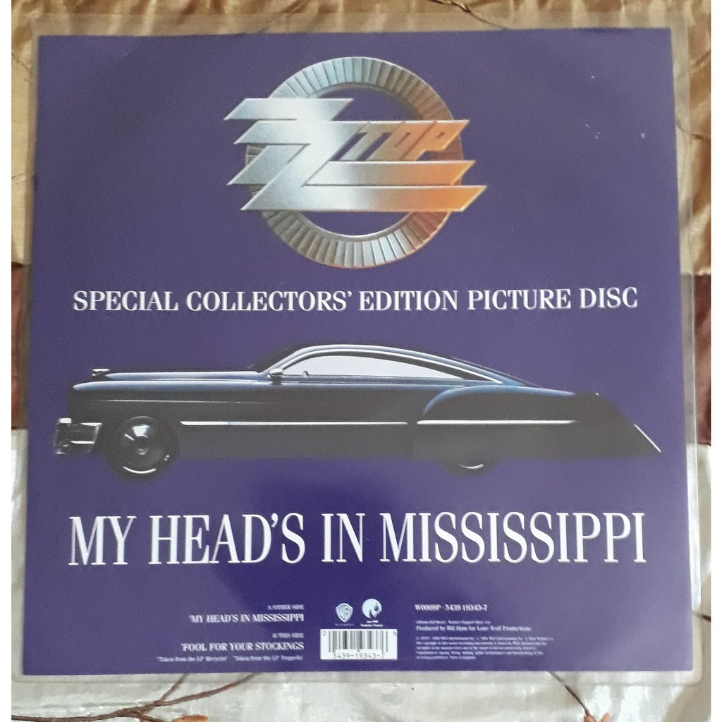 zz top (picture disc) my head's in mississippi