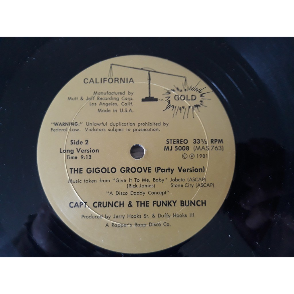 Capt. Crunch & The Funky Bunch - The Gigolo Groove Capt. Crunch & The Funky Bunch - The Gigolo Groove (12)