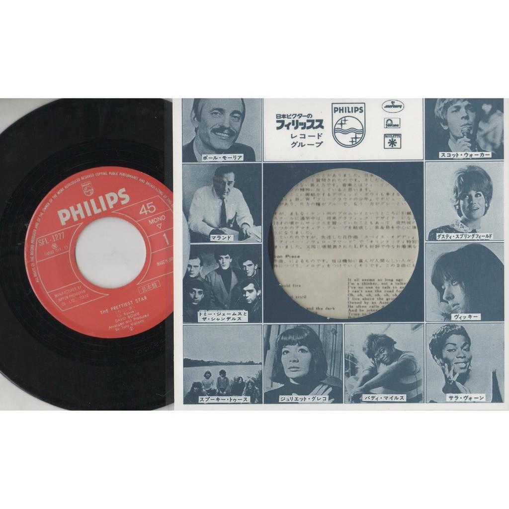 David Bowie The Prettiest Star (Japan Ltd re 100 copies 2-trk 7single promo unique insert ps & Co. slv!)