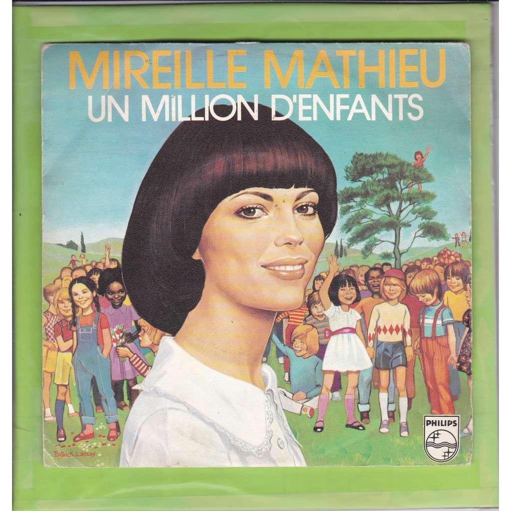 Mireille Mathieu Un million d'enfants / au dernier printemps de notre vie Vinyl proche de VG++