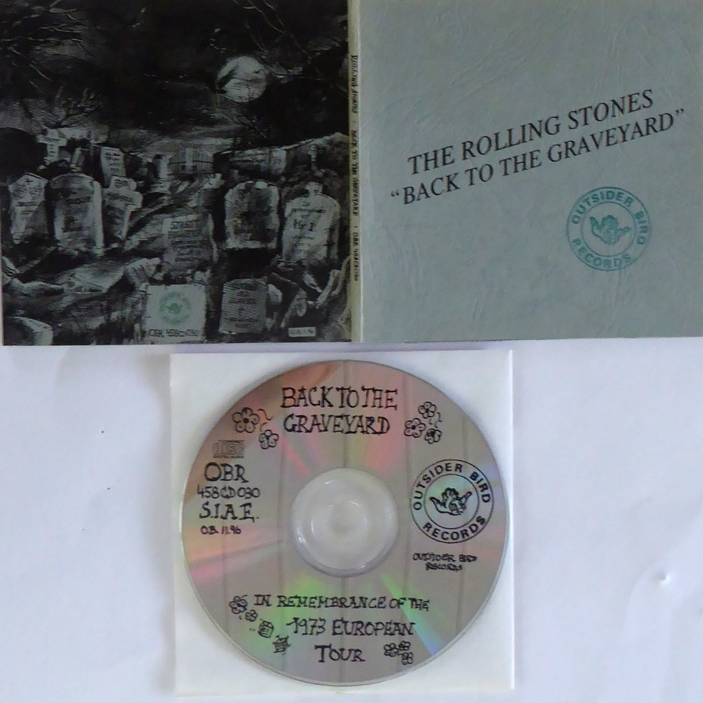 the rolling stones LIVE 1973 BACK TO THE GRAVEYARD OBR NUMBERED AND LIMITED