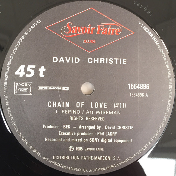 david christie chain of love / You Are My Rock