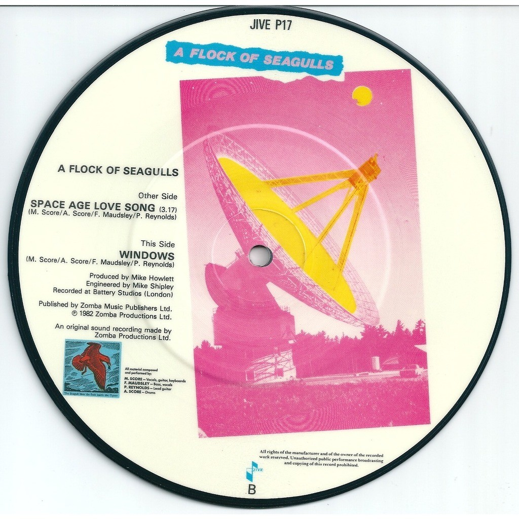 A Flock of Seagulls Space Age Love Song - Picture disc