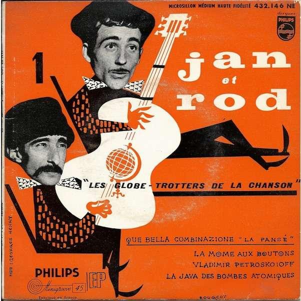 JAN et ROD / Alain GORAGUER Que bella combinazione + 3 (original French press - EP - 1957)